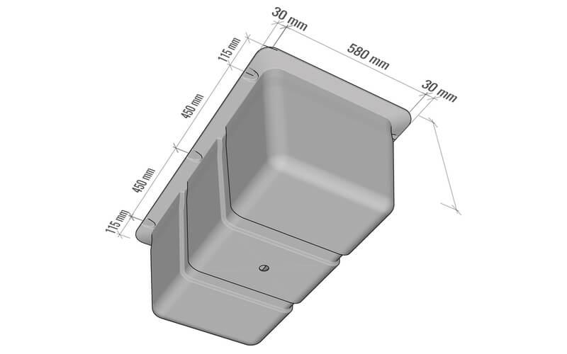 plastikiniu pontonu matmenys 230L
