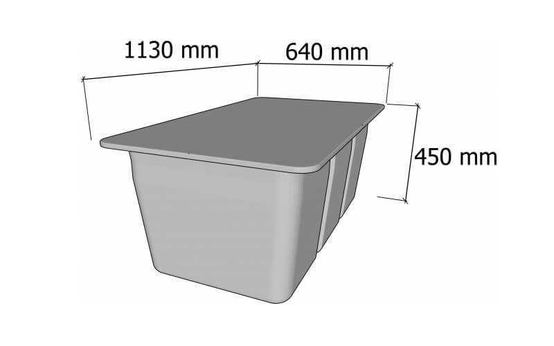 plastikinio pontono matmenys 230L