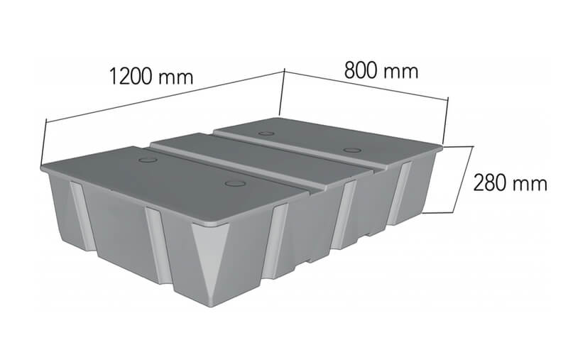 plastikinio pontono matmenys 240L
