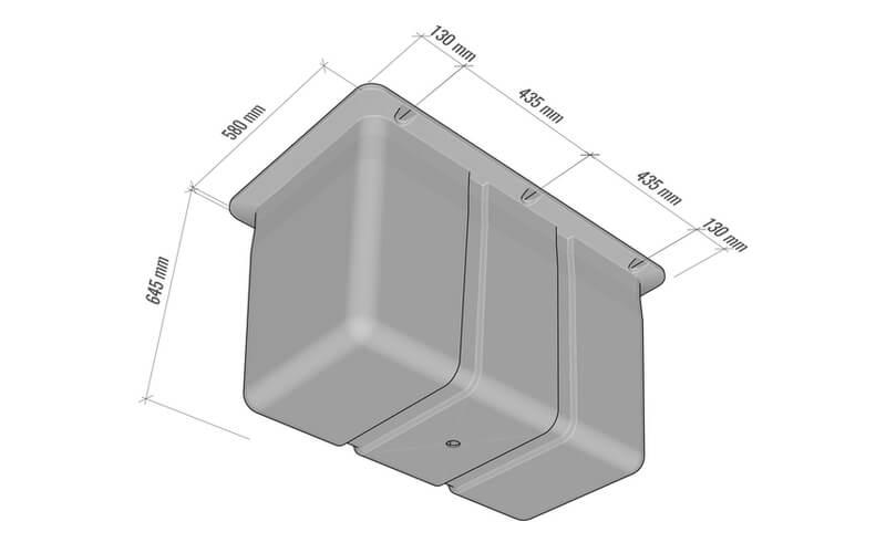 plastikiniu pontonu matmenys 330L