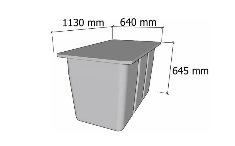 plastikinio pontono matmenys 330L