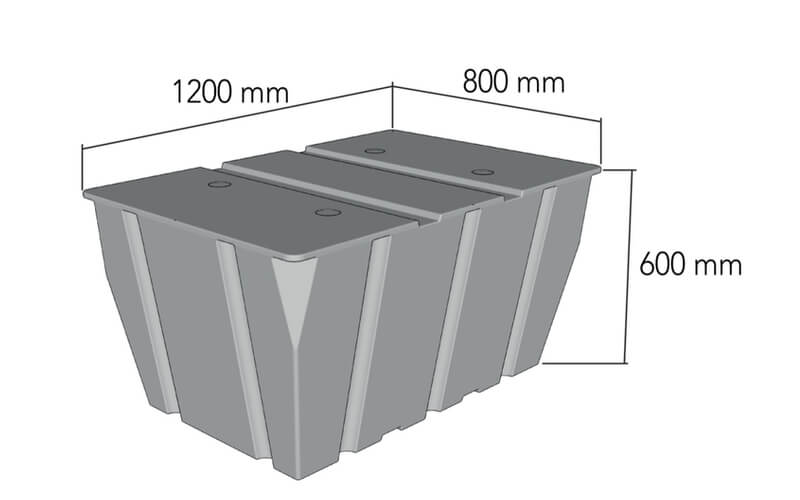 plastikinio pontono matmenys 550L