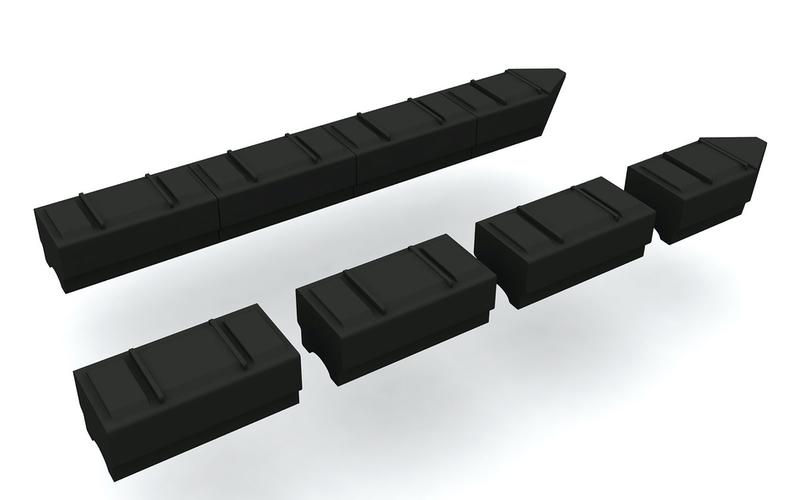 plastikiniai pontonai plaustams